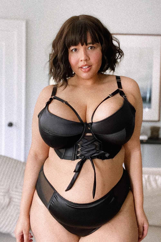 Gabi Fresh Aysha Black Lace Up Bra 36E
