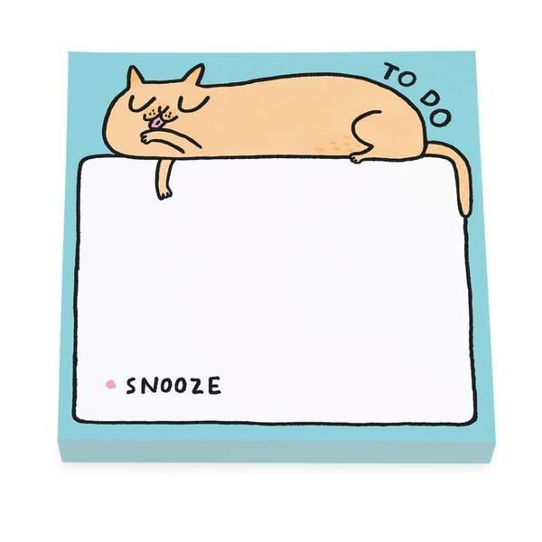 To Do Snooze Cat Sticky Notes