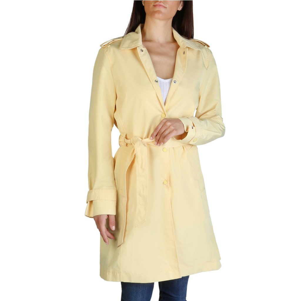Tommy Hilfiger Women's Coat Yellow WW0WW24594 - yellow S