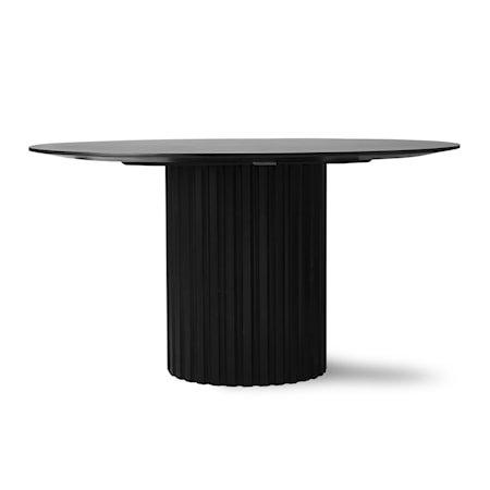 Pillar Spisebord Rundt Black