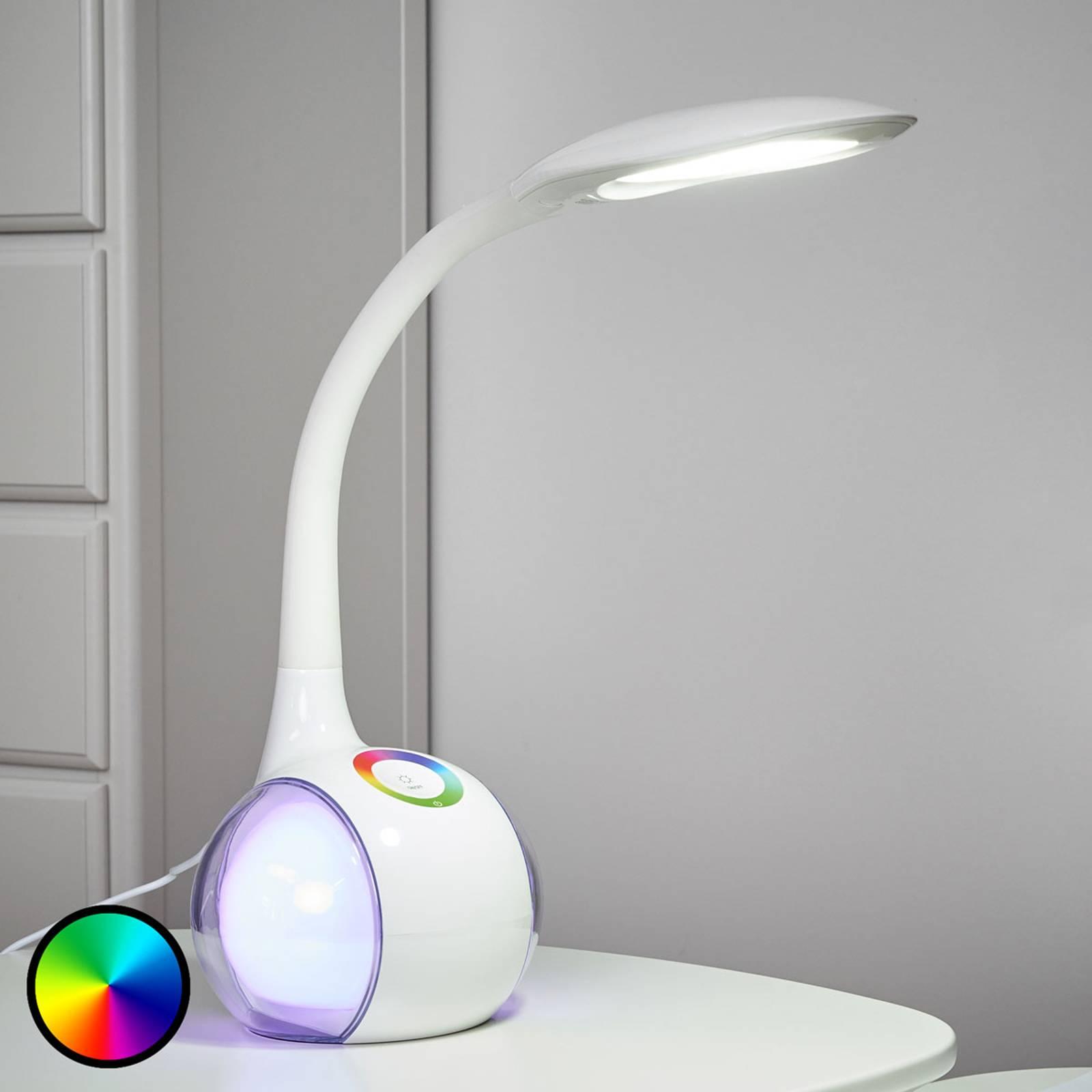 Joustava LED-pöytävalaisin Paula, valkoinen
