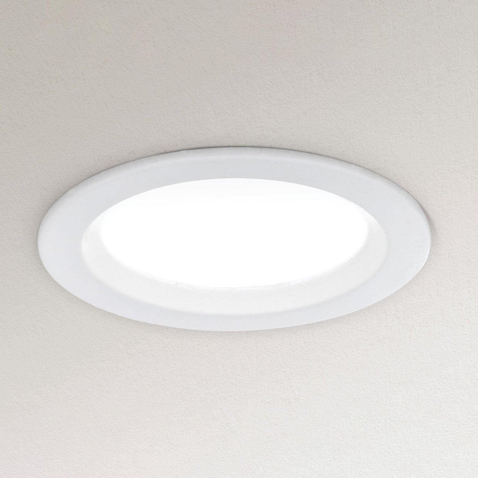 Dimbar LED-downlight Spock Ø 9 cm hvit