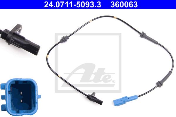 ABS-anturi ATE 24.0711-5093.3