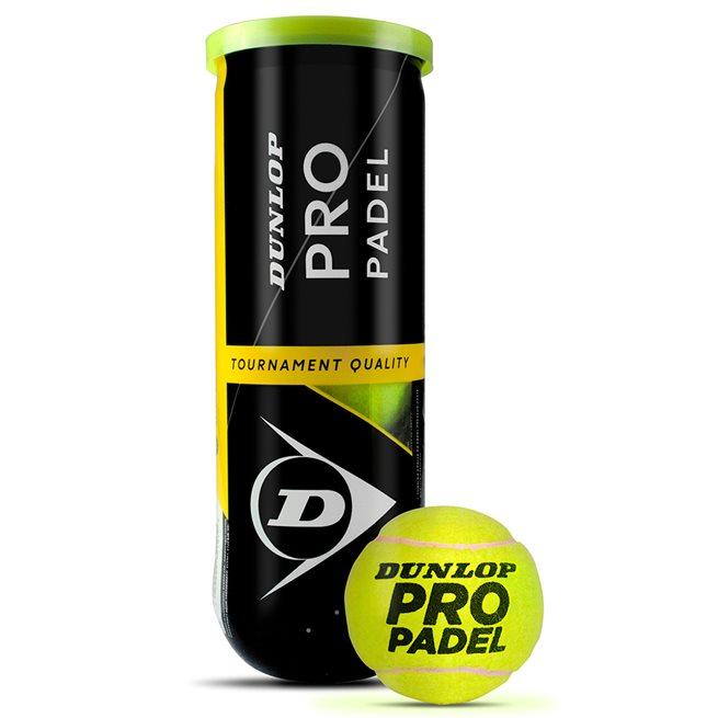 Dunlop Pro Padel Tournament Quality Balls, Padelbollar