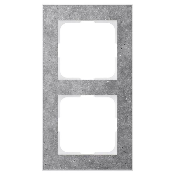 Elko EKO05991 Kombinasjonsramme betong/hvit 2 rom