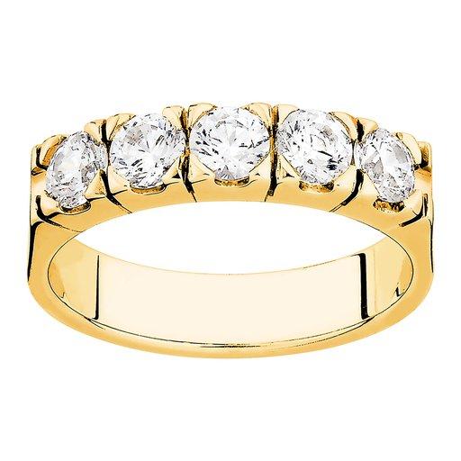 Diamantring i 18K guld, 76