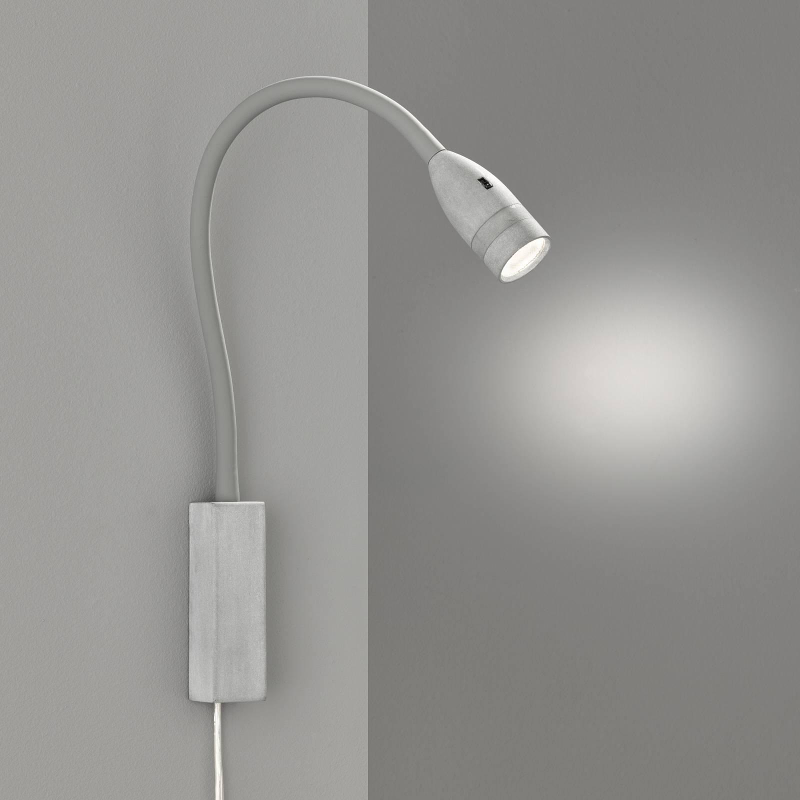 LED-seinävalaisin Sten eleohjauksella, harmaa
