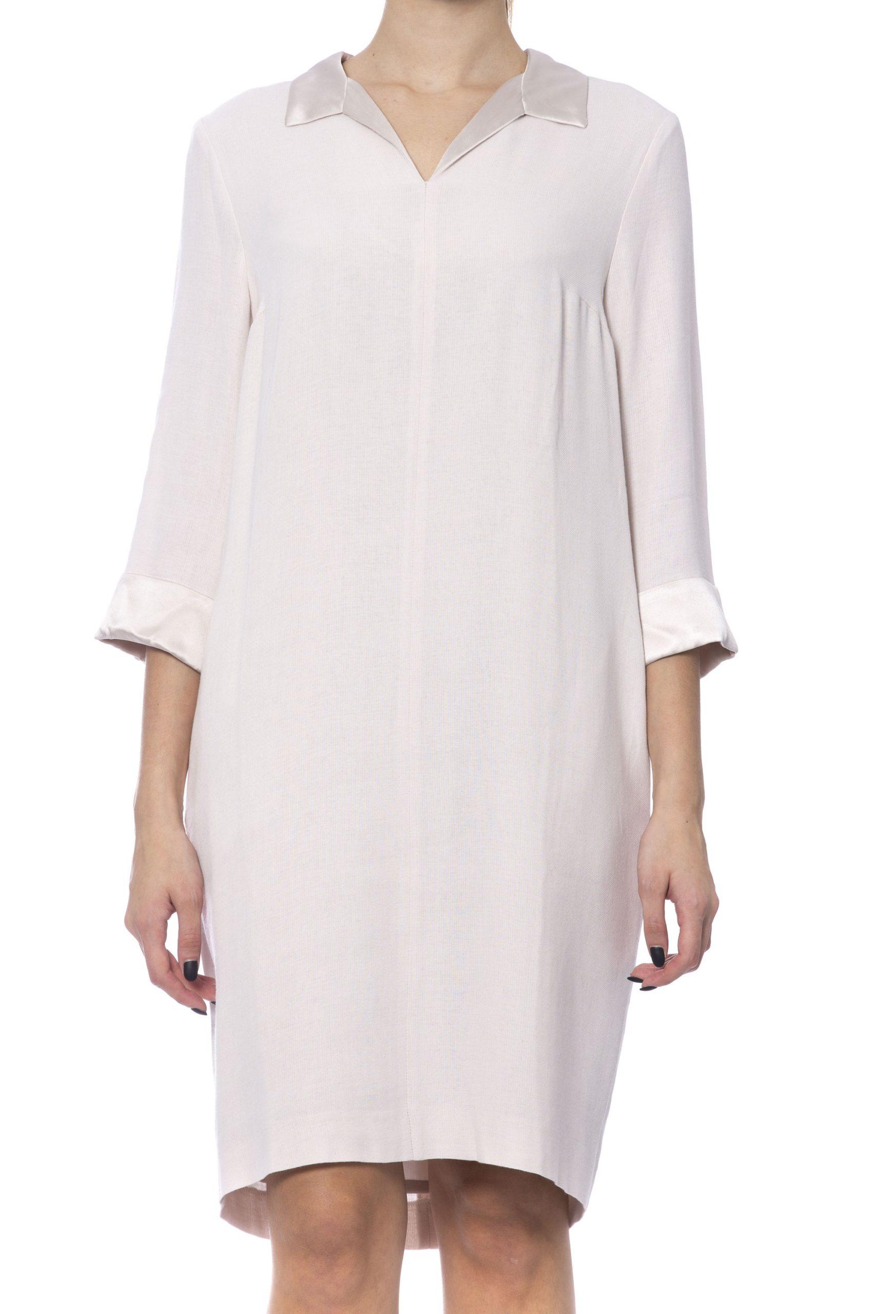 Peserico Women's Dress Beige PE992280 - IT42 | S