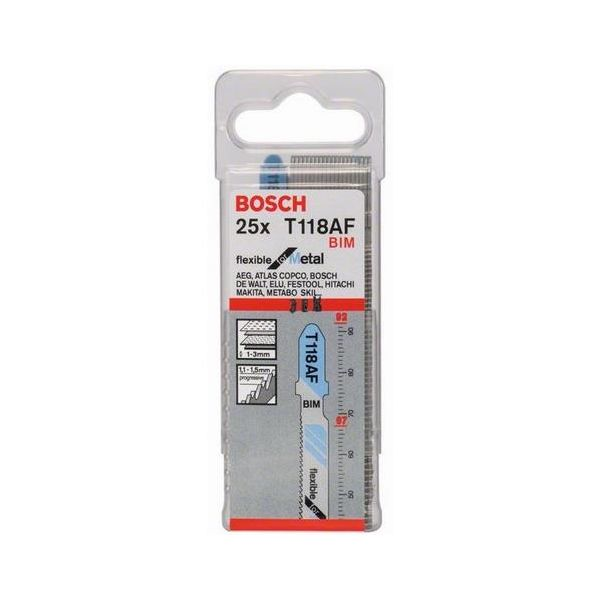 Bosch Fleksibel for metall Stikksagblad For 1-3 mm plate, 92 mm 25-pakn.