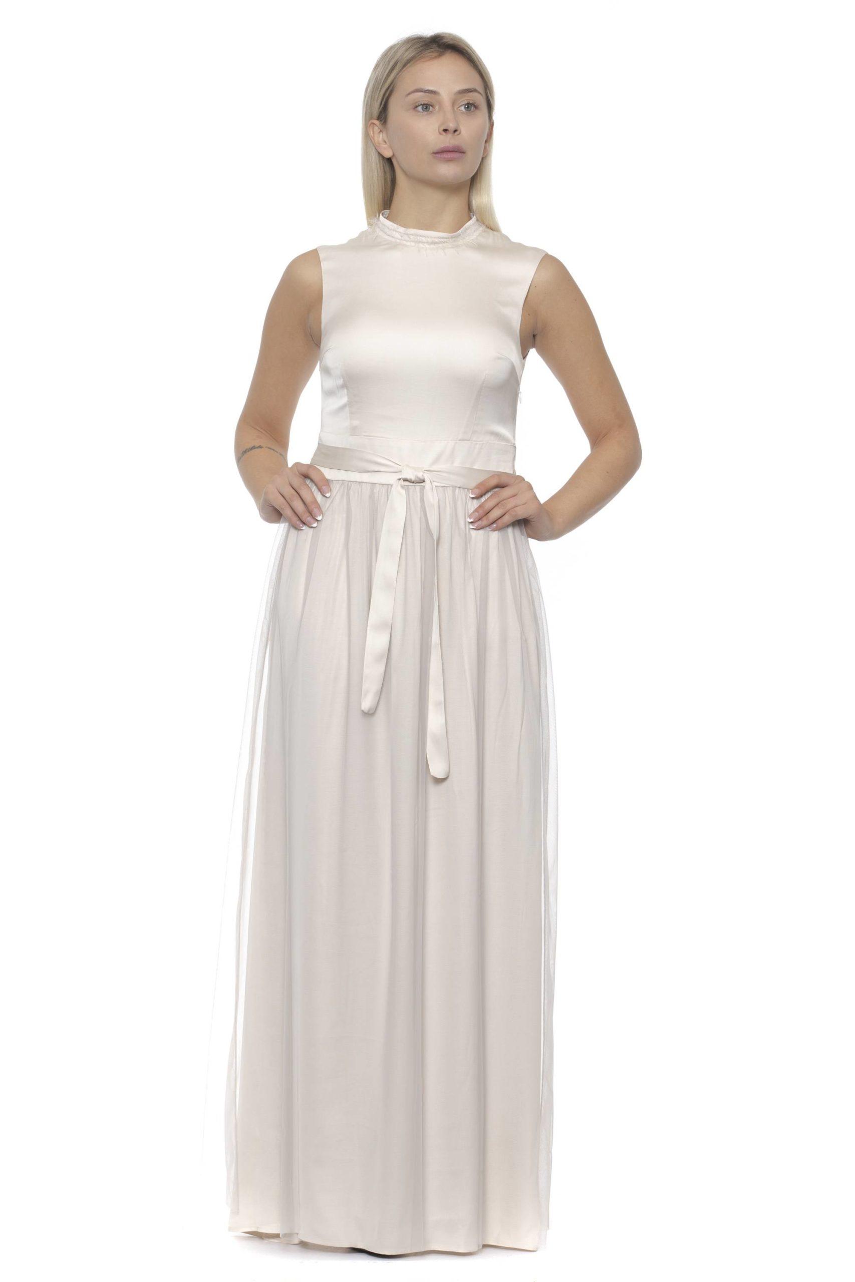 Peserico Women's Bianco Dress Beige PE1381905 - IT40 | XS