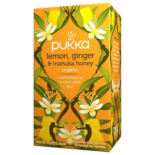 Pukka Herbs Örtte Lemon, Ginger & Manuka Honey, 20 påsar