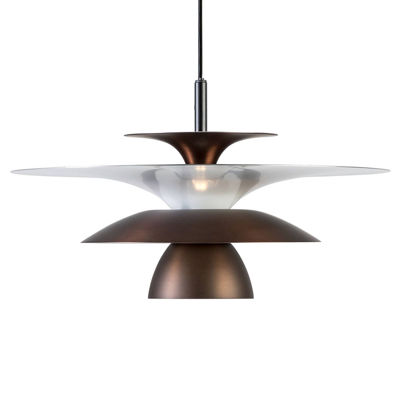 LED-pendellampe Picasso 1 lyskilde Ø 38cm rustbrun