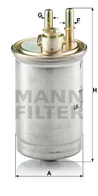 Polttoainesuodatin MANN-FILTER WK 853/7