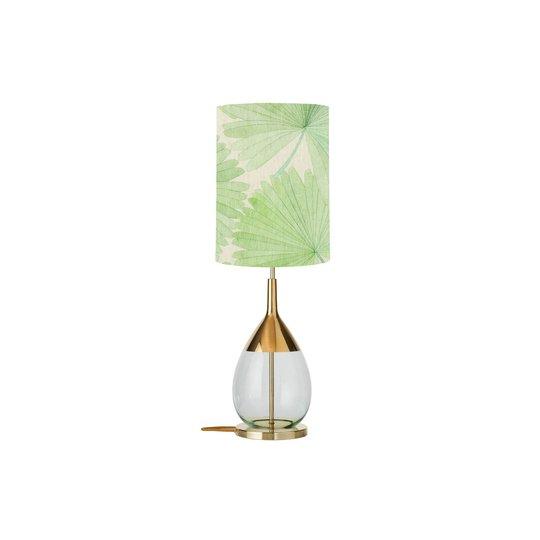 EBB & FLOW Lute bordlampe Tango palm green/gold