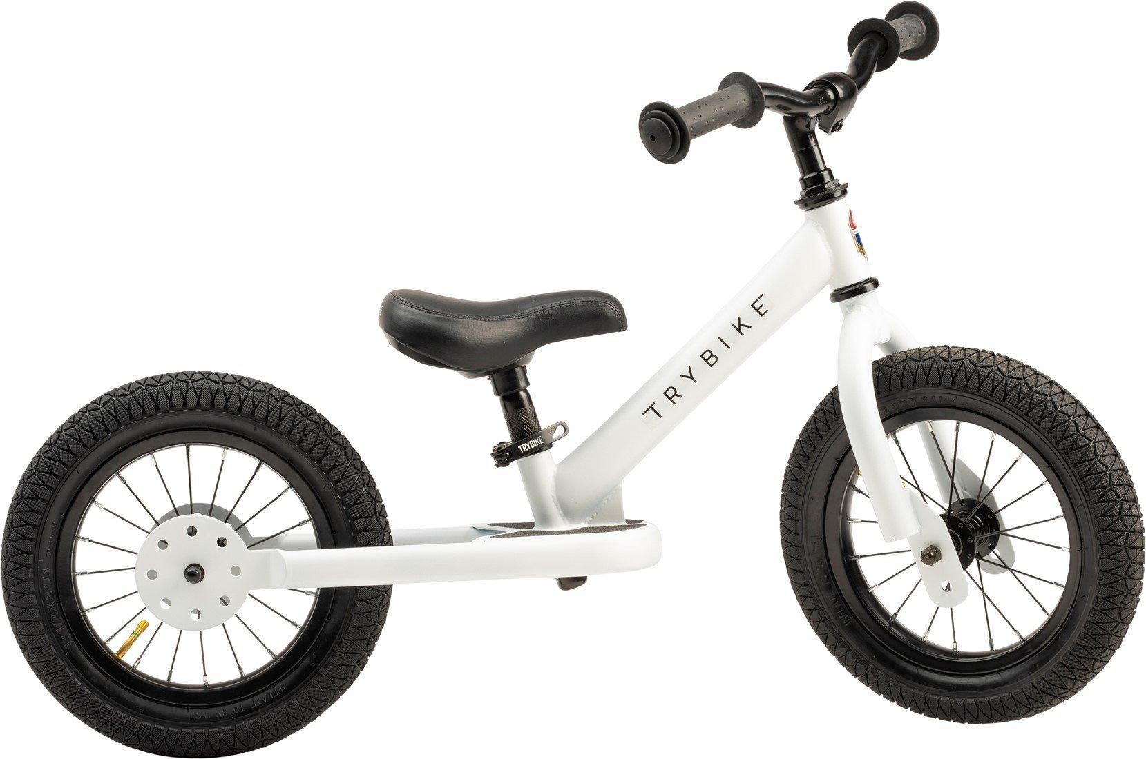 Trybike - 2 Wheel Steel, White (30TBS-2-WHT)