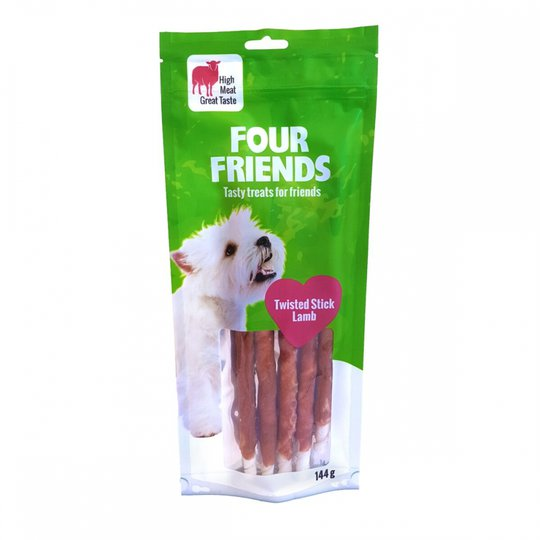 FourFriends Dog Twisted Stick Lamb 25 cm (5-pack)