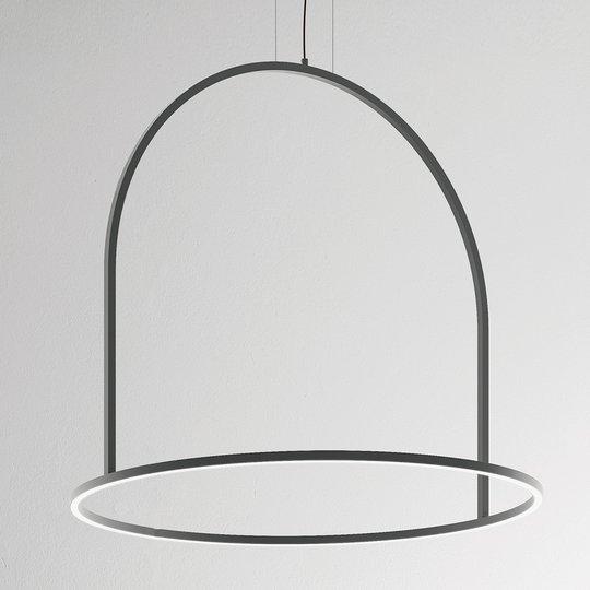 Epätavallinen U-Light-LED- riippuvalaisin, harmaa