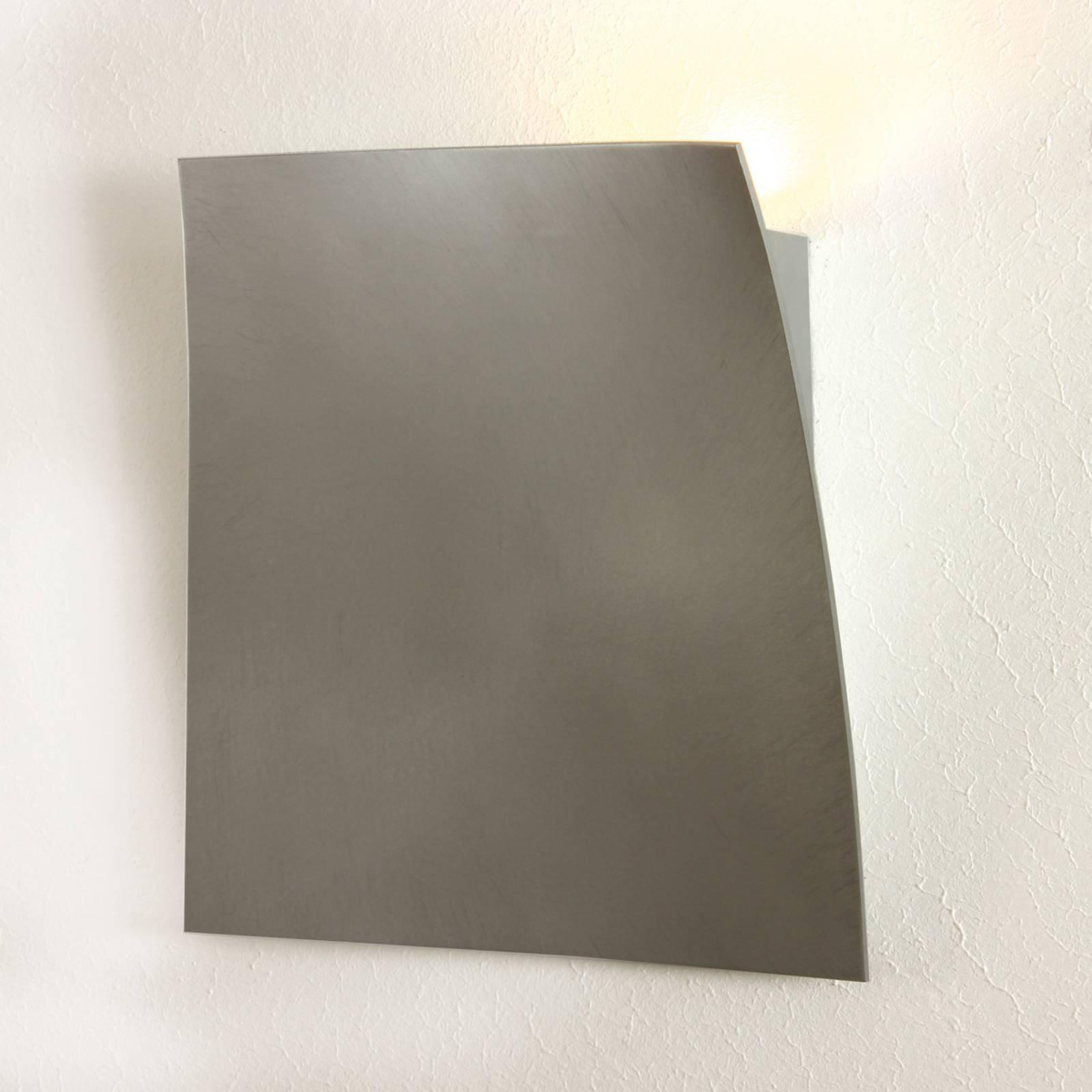 Escale Gap – LED-vegglampe, slipt aluminium