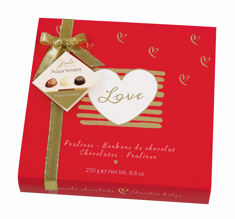 Darling - Röd Chokladask med belgiska praliner