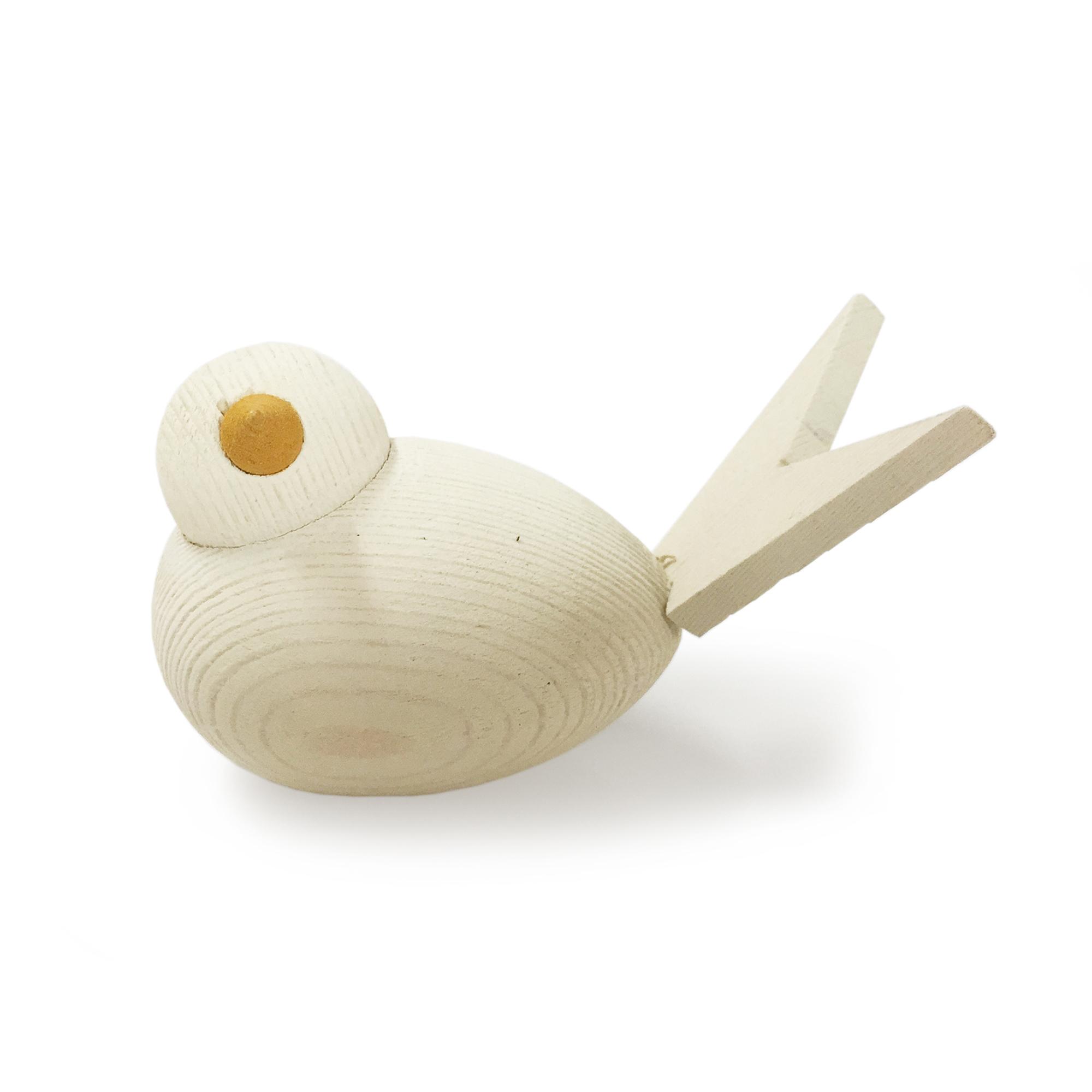 SPEGELS Fågel Trä vit