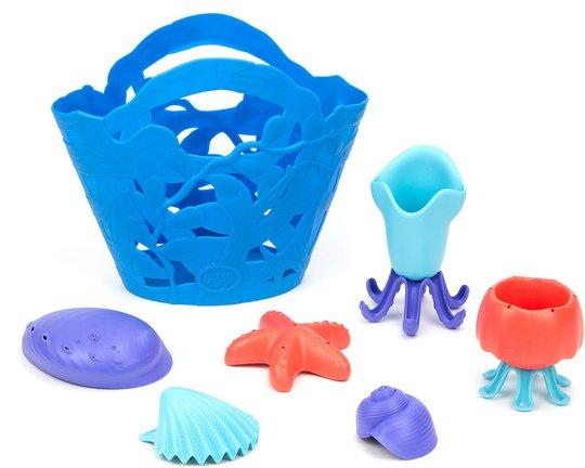 Green Toys Strandsett 7 Deler, Blå
