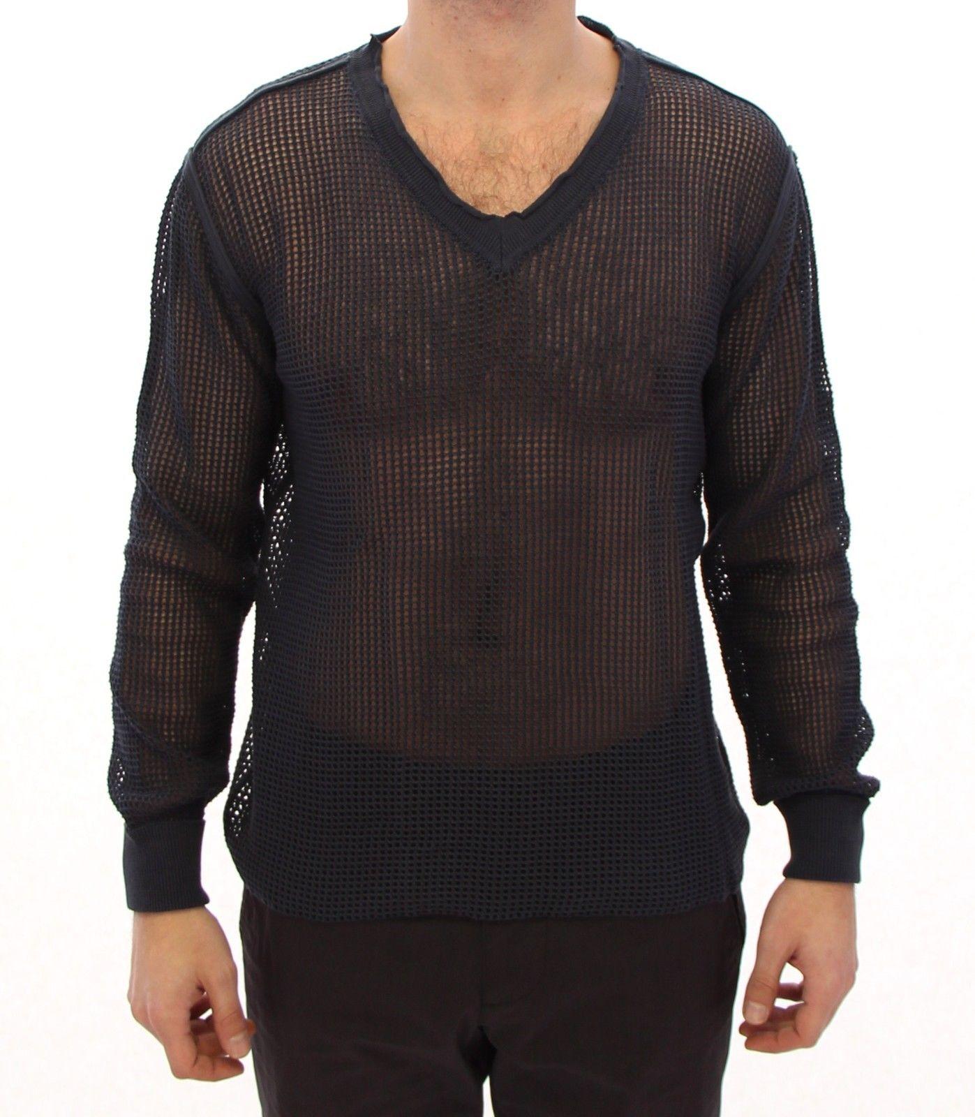 Dolce & Gabbana Men's Runway Netz Pullover Netted Sweater Blue GTH10675 - IT54 | XXL