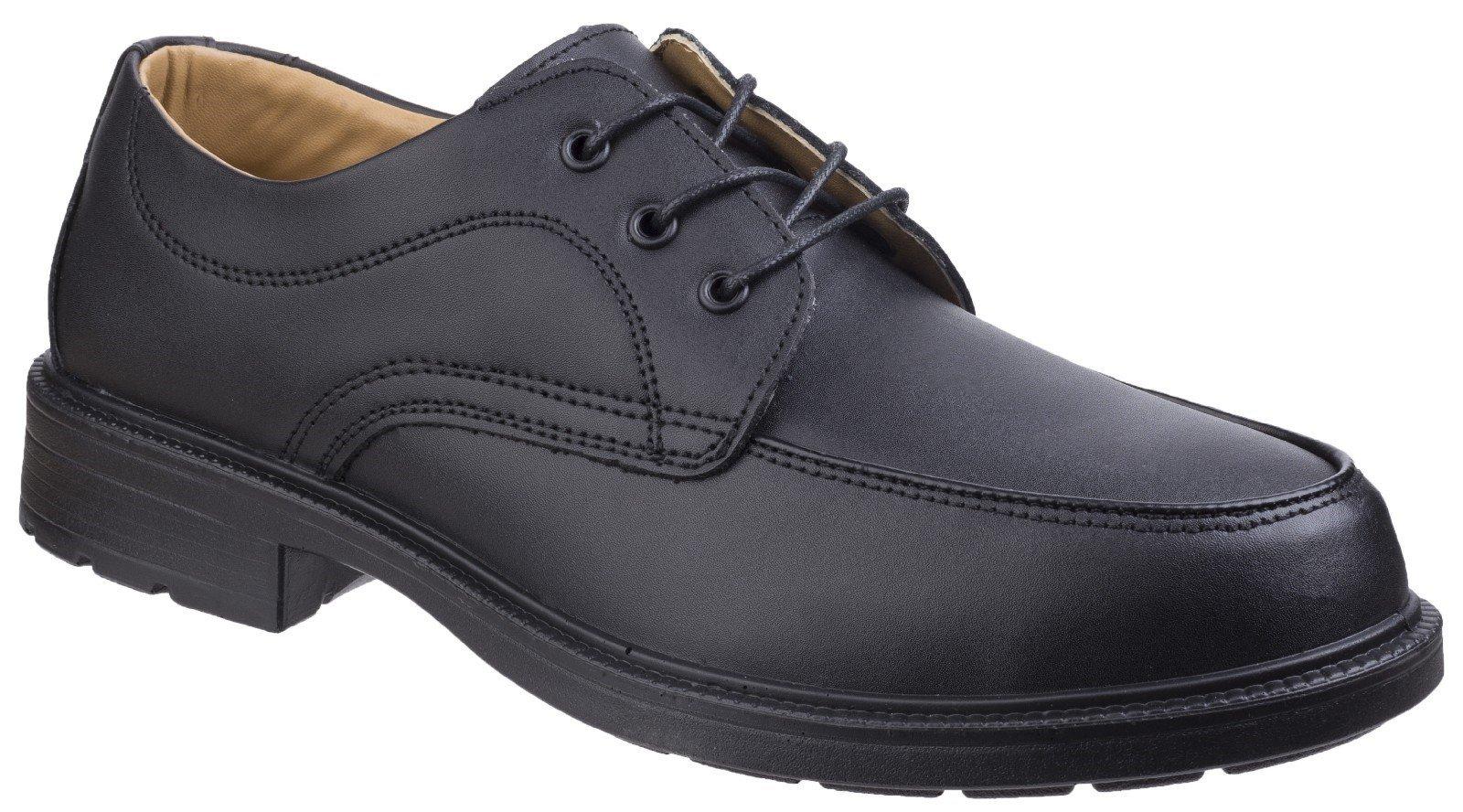 Amblers Unisex Safety Gibson Lace Shoes Black 01055 - Black 5