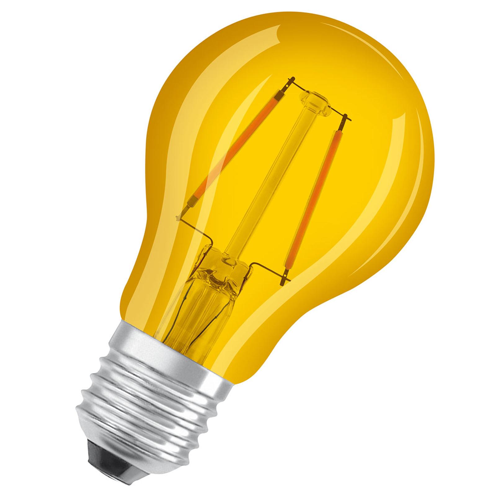 OSRAM-LED-lamppu E27 Star Décor Cla A 2,5W keltain