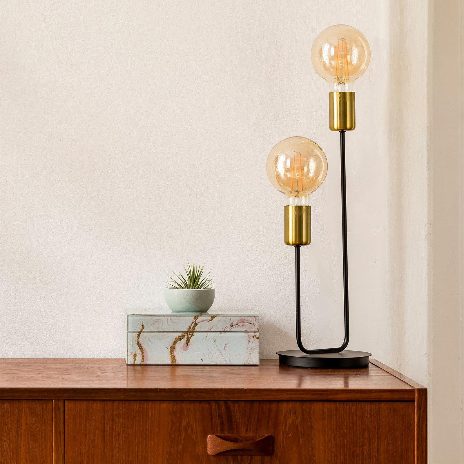 Modo bordlampe, 2 lyskilder, svart