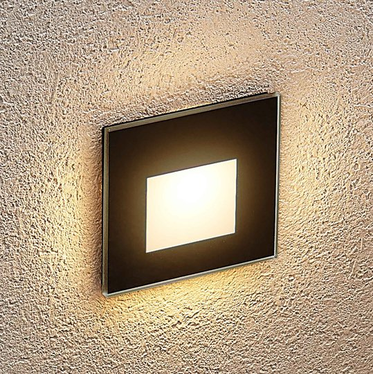 Arcchio Vexi LED-downlight, kantet, matt svart