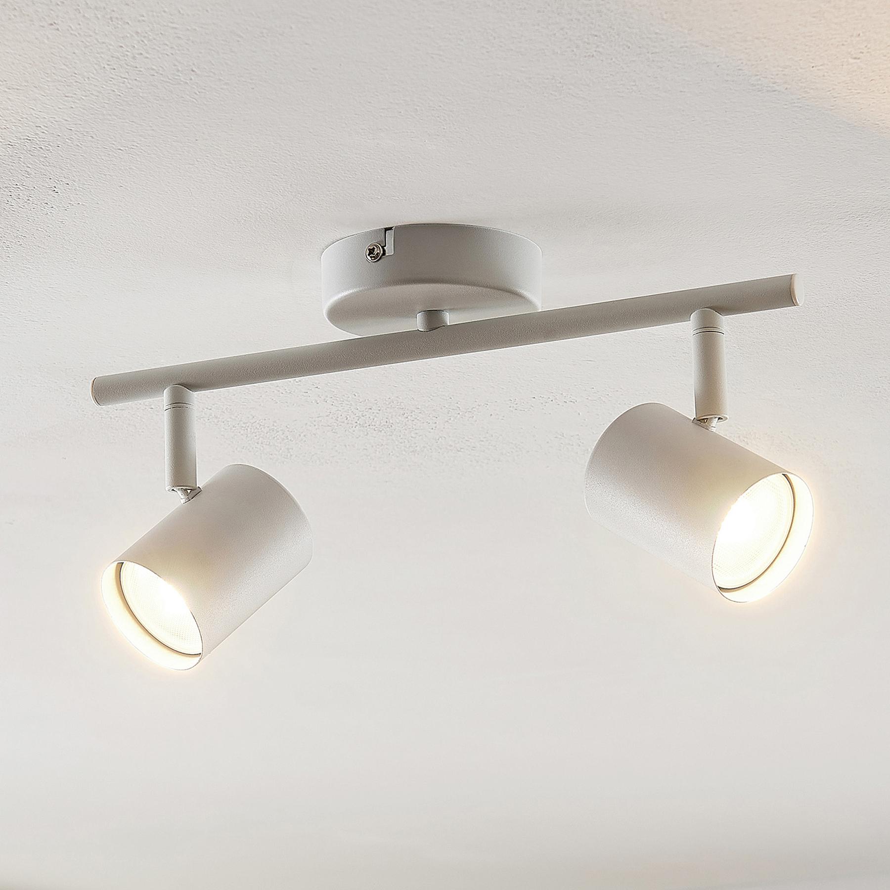 ELC Tomoki -LED-kohdevalo, valkoinen, 2-lamp.
