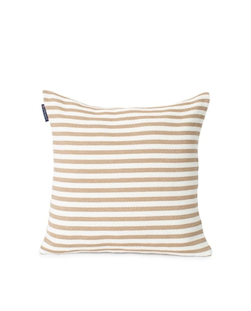 Block Striped Recycled Kuddfodral Beige 50x50cm
