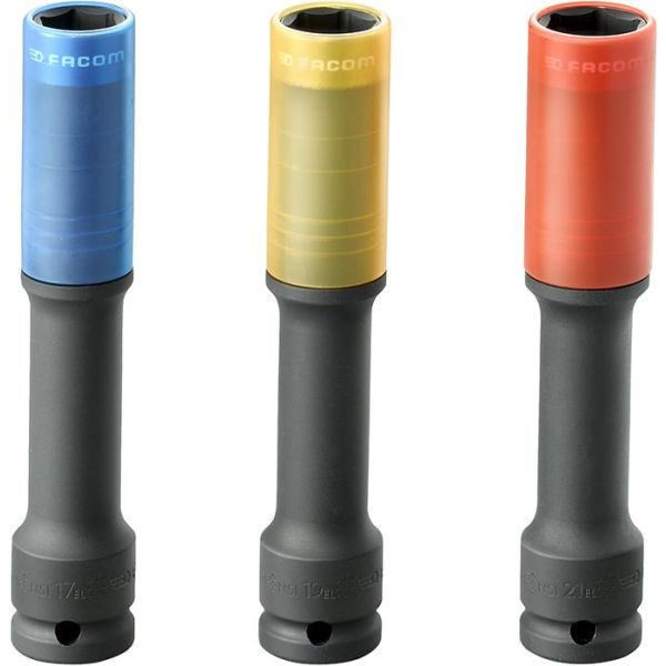 """Facom NSI.3EL Kraftpipesett 1/2"""", 17/19/21 mm, lang"""