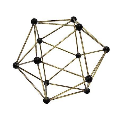 Molekyl Messing pyntegjenstand
