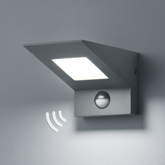 Utendørs LED-vegglampe Nelson med sensor