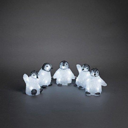 Konstsmide 6266-203 Koristevalaisin pingviinit, 5 kpl