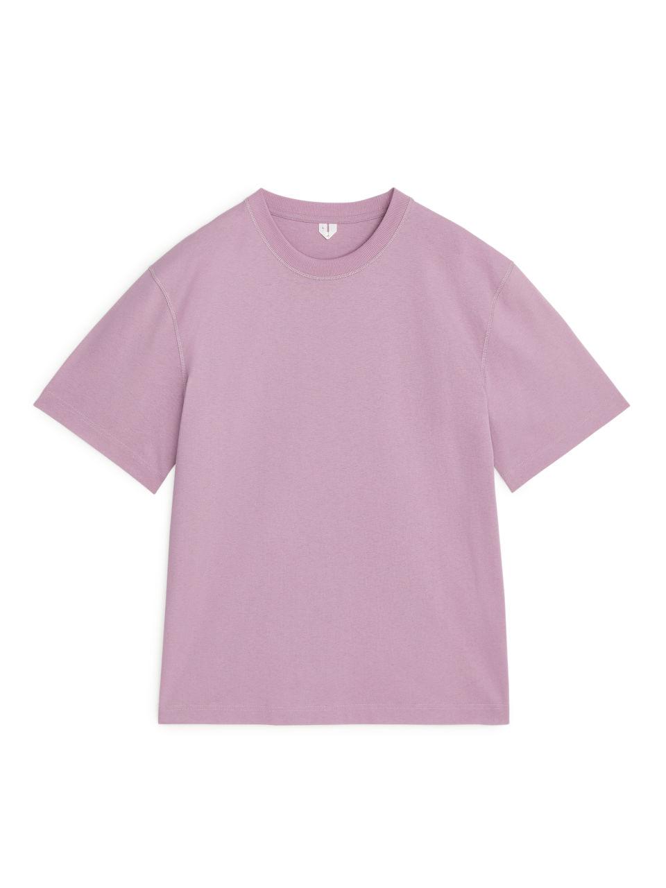 Natural Dye Oversized T-shirt - Purple
