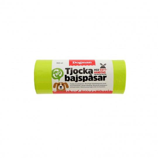 Dogman Tjocka Bajspåsar med Handtag 50-pack (Limegrön)