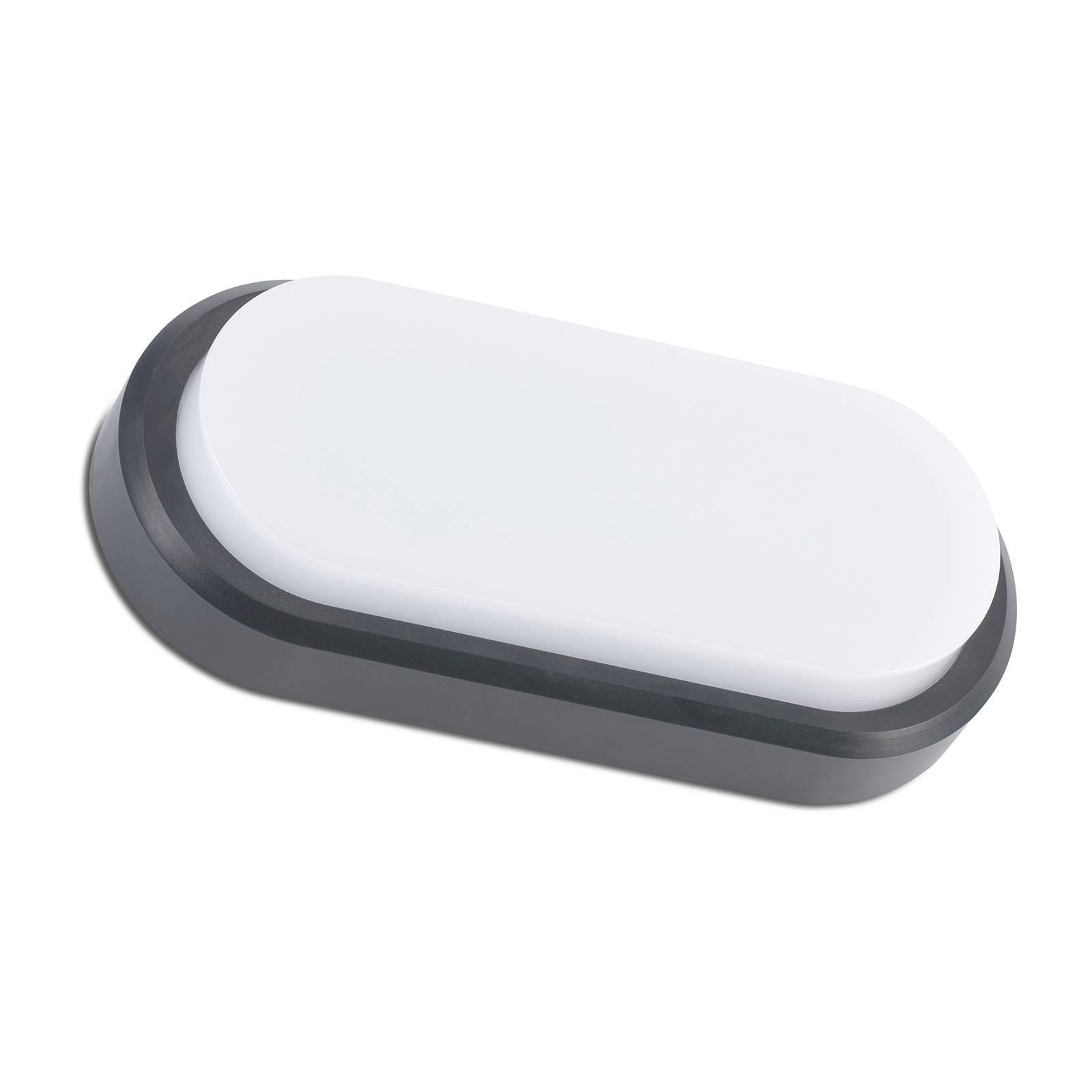 LED-ulkoseinälamppu Fred XL IK10 harmaa/valkoinen