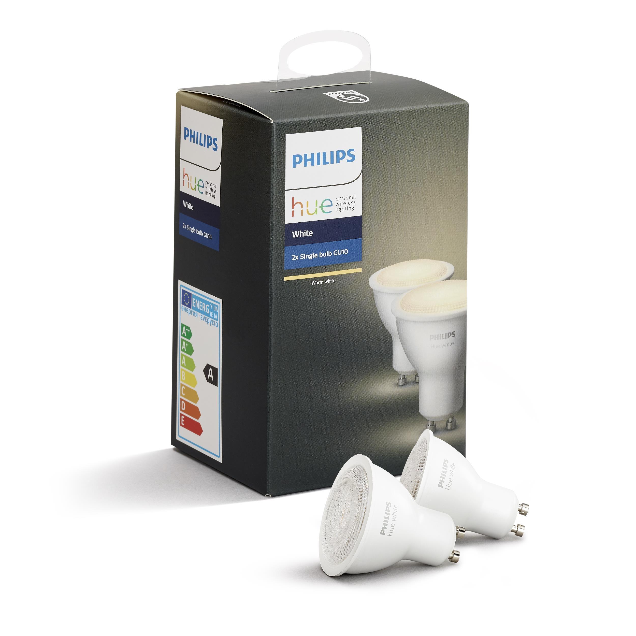 Philips Hue - GU10 Dual Pack - Warm White - Bluetooth