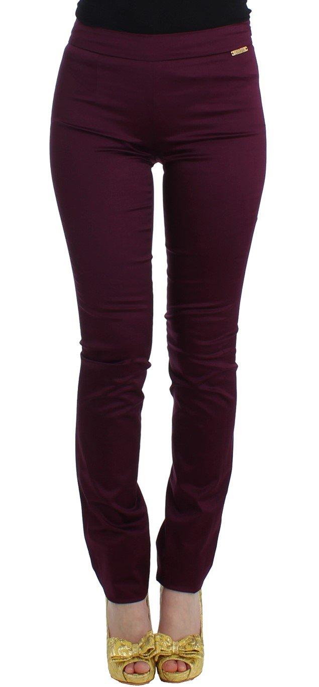 John Galliano Women's Slim Fit Trouser Purple SIG11719 - IT40 S