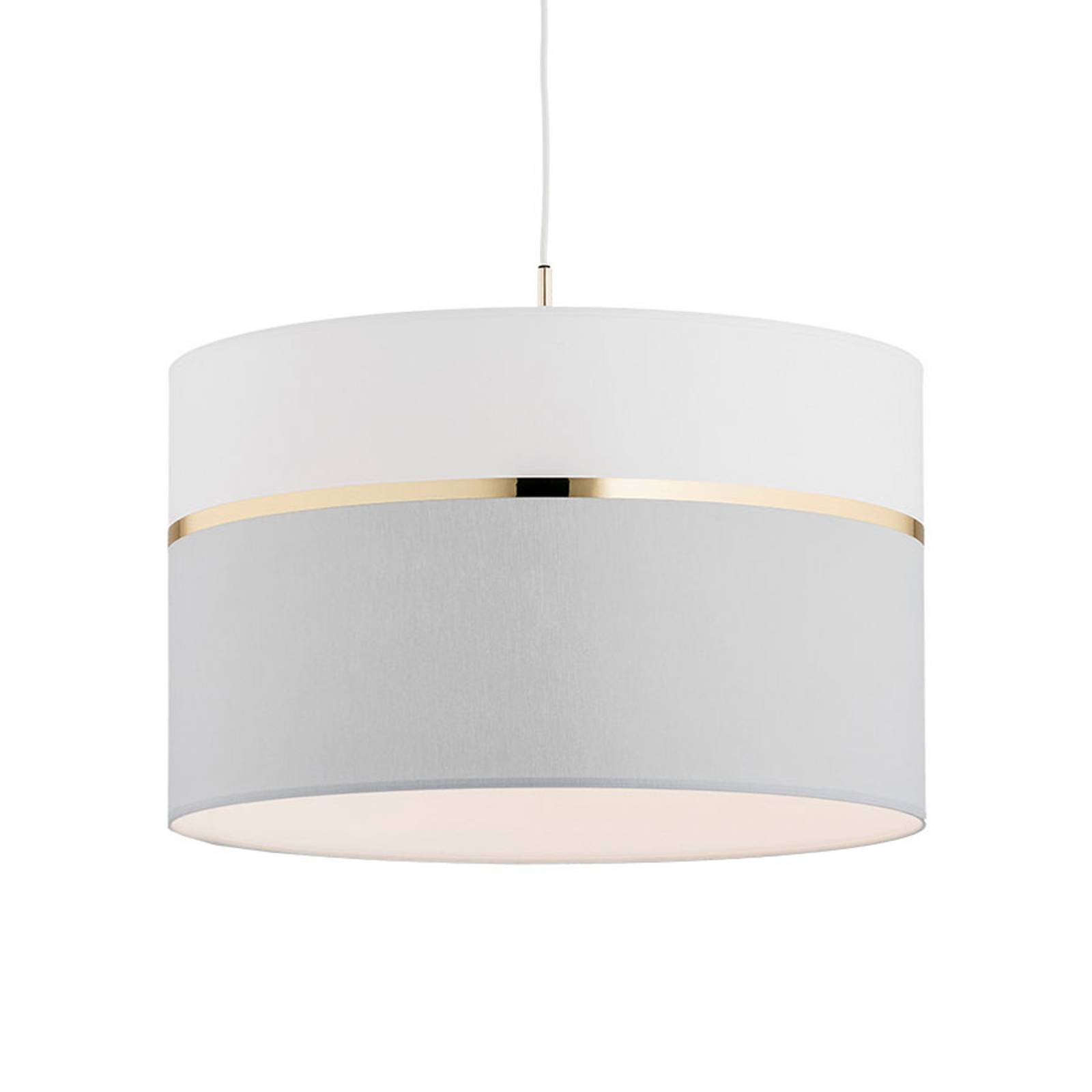 Riippuvalo Long 1-lamppuinen valkoinen/harmaa