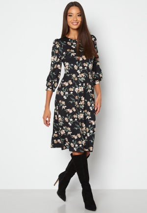 Happy Holly Susanna midi dress Black / Patterned 36/38