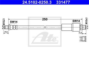 Jarruletku, Taka-akseli, AUDI A8, 4D0 611 775 B