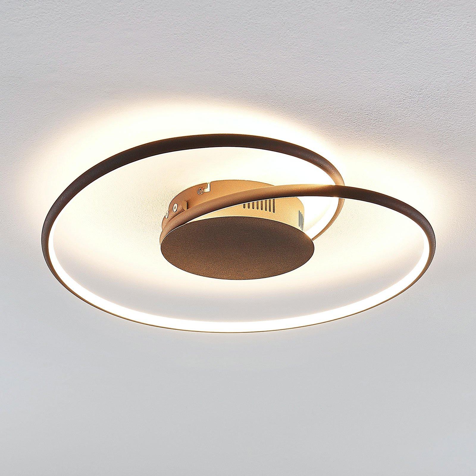 Lindby Joline LED-taklampe, rust, 45 cm