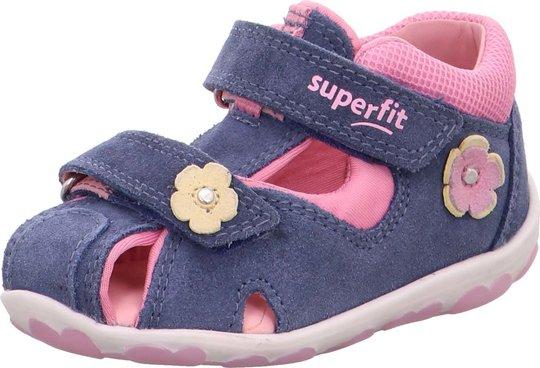 Superfit Fanni Sandal, Blue/Pink, 19