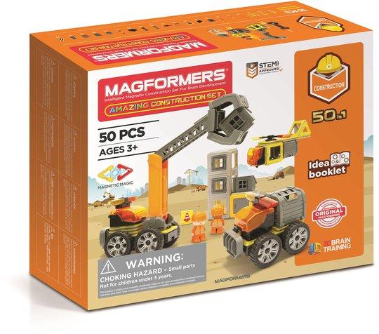 Magformers Byggesett Konstruksjon 50 deler