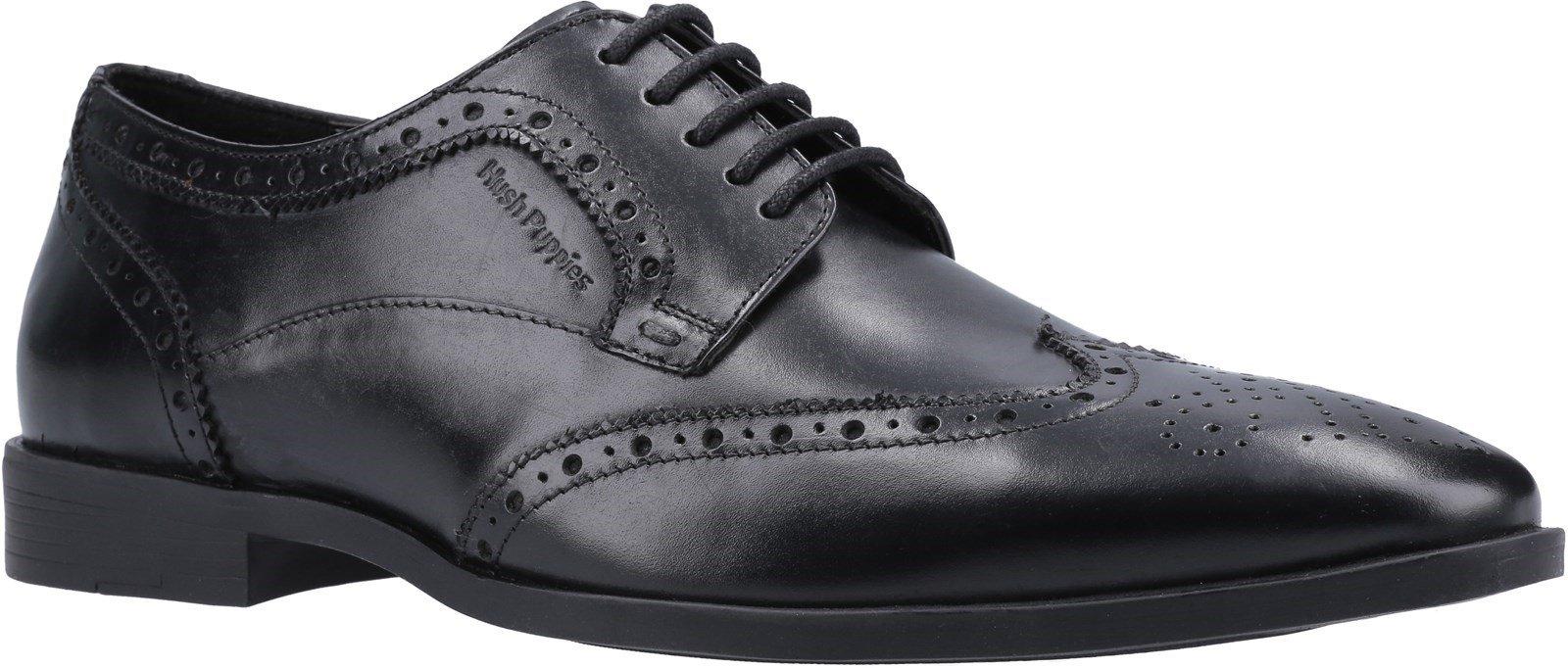 Hush Puppies Men's Brace Lace Up Brogue Shoe Black 30774 - Black 7