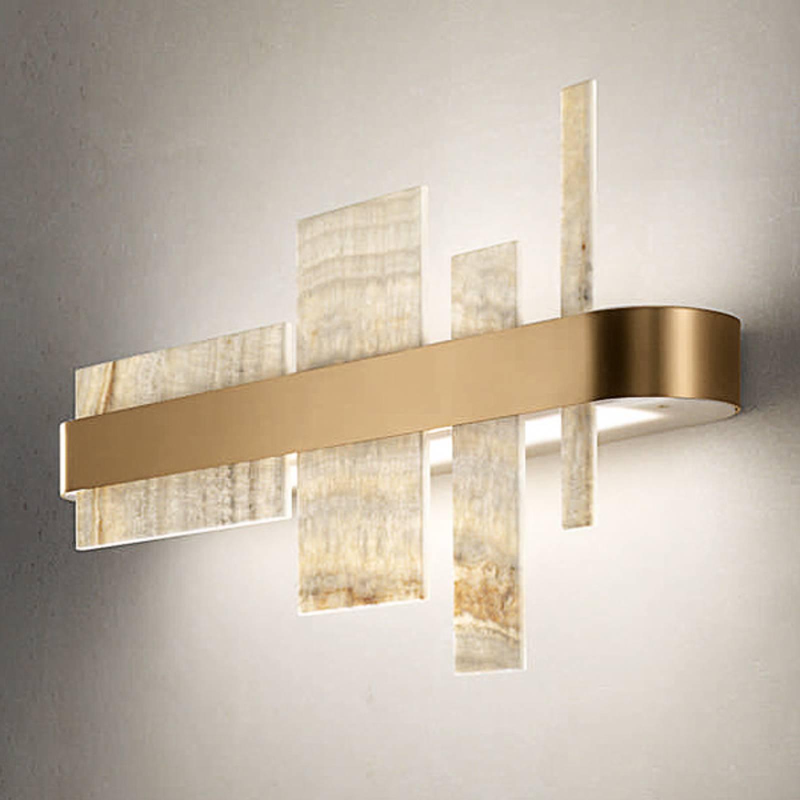 Design-seinävalaisin Honicé LED-valoilla, 65 cm