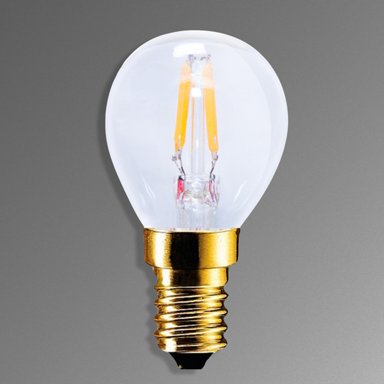 LED-hehkulamppu E14 2,2 W 922 hiililangalla